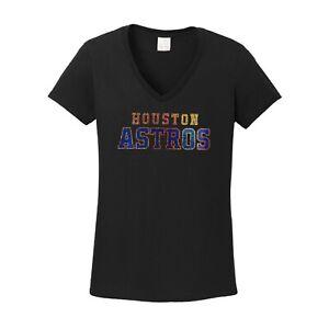 Women's Houston Astros  spangle t shirt faux rhinestone lots of sparkle