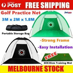 3 Meters Golf Practice Hitting Net Indoor/Outdoor with Portable Carry Bag