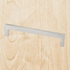 Kitchen Cabinet Hardware Square Bar Pulls ps25 Satin Nickel 192 mm CC Handle