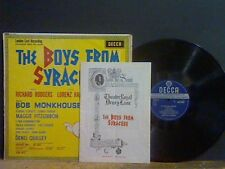BOYS FROM SYRACUSE  London Cast   LP Bob Monkhouse  Ronnie Corbett   EX !!