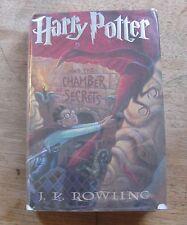 true 1st/1st HARRY POTTER CHAMBER SECRETS J.K. Rowling - HCDJ 1999 $17.95 -