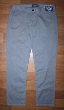 Topman mens grey slim chino pants trousers Size W34 L32