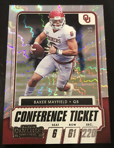 🔥 2021 BAKER MAYFIELD Panini Contenders Draft Pick CONFERENCE TICKET /199 SP