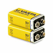 2x VARTA 9v Block Batterie 6lr61 430mah E-block Superlife 2 Stk