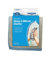 Unger  Microfiber  Glass and Mirror Cloth  12 in. W x 12 in. L 2 pk