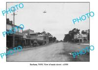 OLD 6x4 PHOTO BARHAM NSW VIEW OF MAIN STREET c1930