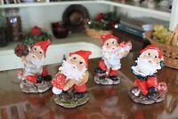 """5"""" Resin Garden Patio Gnomes - Set of 4"""