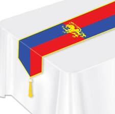 Medieval Paper Table Runner Red Blue Yellow Renaissance Party Decoration
