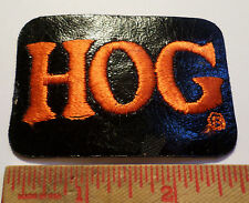 Vintage Harley HOG pleather patch HD motorcycle collectible biker vest emblem