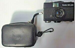 ROLLEI 35 LED Camera & Original Case 40mm f3.5 Triotar Lens Vintage 1978-1980
