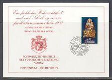 Liechtenstein Scott Maxim Card  FDC - Christmas 1982