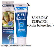 2x Optima Musselflex Gel 125ml Green lipped mussel & Glucosamine Joint & Mussel