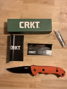 CRKT COLUMBIA RIVER HAMMOND CRUISER LINERLOCK POCKET KNIFE ORANGE BLACK FINISH