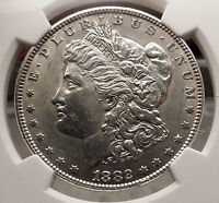 1882 MORGAN SILVER DOLLAR United States of America USA Coin NGC UNC DETAI i57727