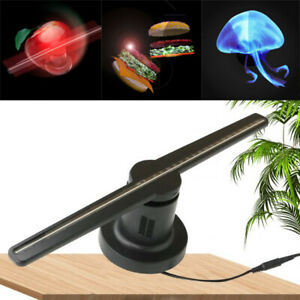 LED 3D Hologramm Projektor Fan Holographische Display Player Werbung+SD