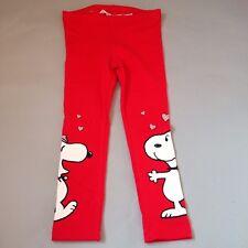 Snoopy Bell leggings kids 2-3Y girls red H&M