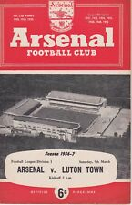 ARSENAL v LUTON TOWN ~ 9 MARCH 1957 (1)