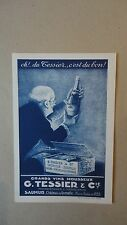 ANCIEN TARIF CHAMPAGNE TESSIER ET CIE SAUMUR CHATEAU DE GRENELLE VERS 1910