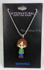 Supernatural Kawaii Chibi Sam Winchester Rubber Pendant Shot Bead Necklace