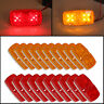 20x Trailer Marker LED Light Double Bullseye 10 Diodes Clearance Light Red/Amber