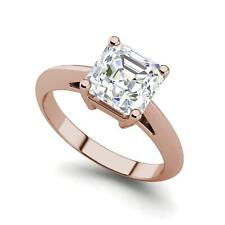 Diamond Engagement Ring Rose Gold Solitaire 1.5 Carat Vs2/F Cushion Cut
