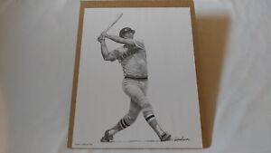 1990 Alan Landsman Carl Yastrzemski Boston Red Sox 11X14 Baseball Art Sketch