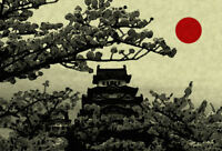 Framed Print - Japanese Temple (Picture Poster Oriental Japanese Chinese Art)