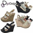 NEW Strappy Gladiator Wedge Sandal Open Toe High Heel Women Platform Pump Shoe