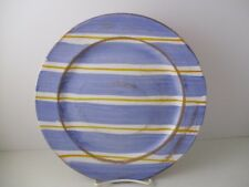 "PRESENT TENSE STRIPES AND DOTS BLUE DINNER PLATE 10 3/4""-1305I"