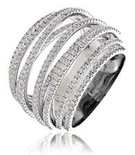 Diamond Multi-Band Ring 1.90ct Brilliant Cut F VS in 18ct White Gold