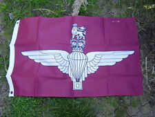 British Army Parachute Regiment Para Beret Badge On Military Maroon Colours Flag