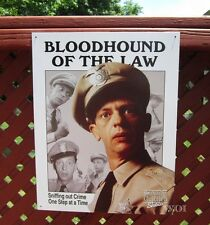 The Andy Griffith Show Barney Fife Deputy Don Knotts Tin Poster Sign Wall Plaque