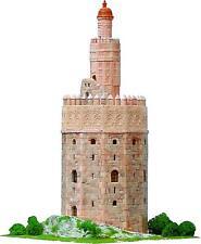 AEDES 1260. Maqueta de construcción ladrillo de Torre del Oro de Sevilla