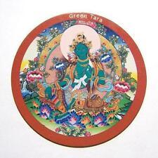 Buddhist Tibetan Round Magnet - Green Tara - 7.3cm Diameter