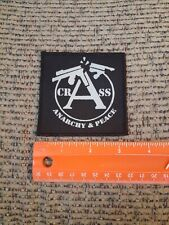 CRASS DIY Amebix Anti Phobia Antisect Punk Doom Filth Cloth Patch Anarchy Peace