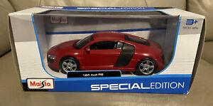 Maisto Audi R8 V10 Plus Red Special Edition 1/24 Diecast Model Car 31513R