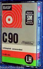 BASF LH SM C 90 BLANK AUDIO CASSETTE TAPE - RIGHT HINGED C90 (1)