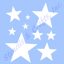 "STAR MINI STENCIL MANY STARS CELESTIAL STENCILS TEMPLATE PAINT CRAFT NEW 4"" X 5"""