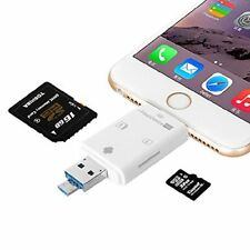 Imoregro 3 In 1 Iflash Drive Usb Micro Sd Sdhc Tf Card Reader For Iphone 8/8 Plu