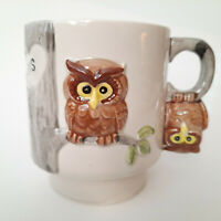 Gift for Sister ~ We All Have Our Ups And Downs Owl Coffee Cup Mug Sis