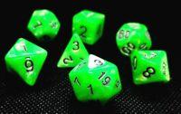 RPG Würfel Set 7-teilig Poly DND Rollenspiel Grün dice4friends w4-w20 Brettspiel