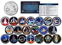 SPACE SHUTTLE PROGRAM MAJOR EVENTS Florida Quarters US 20-Coin Set NASA Missions