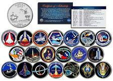 SPACE SHUTTLE PROGRAM MAJOR EVENTS Florida Quarters US 20-Coin Set NASA Missions