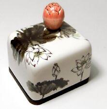 Lotus Flower Korea Orgel Music Box Paperweight Ceramic Hand Craft, Figure 2