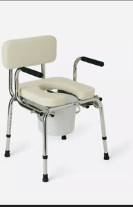 Guardian Padded Drop Arm Bedside Over the Toilet Seat Chair Commode G98204 NOB