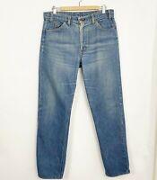 VTG Levi's Orange Tab 505 Distressed Denim Jeans Mens 36x32 40505-0916 USA Made