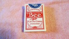 VINTAGE USED ON A 21 TABLE DECK OF BEE PLAYING CARDS CLUB SPECIAL NUGGET RED