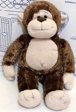 Build a Bear Marvelous Monkey Plush Brown Cream Happy Stuffed Animal Doll Toy