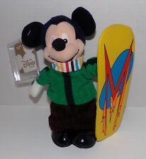 "Snowboard Mickey Mouse Mini Bean Bag Plush 8"" Especially For Disney Store - NWT"