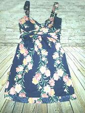 Elie Tahari Silk Floral Sleeveless Flare DRESS Womens Sz M Wrap Around Bust Belt